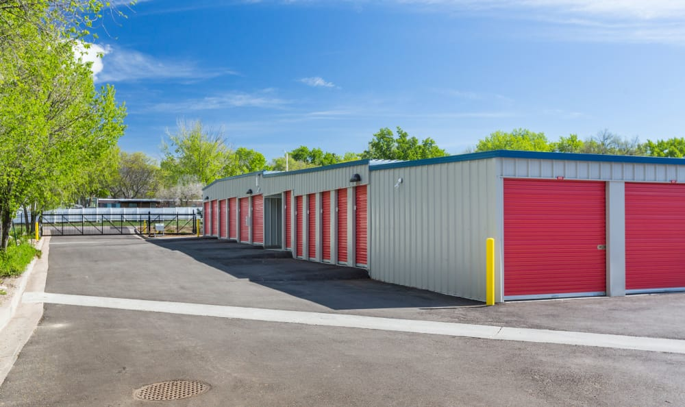 Ground-level units at Smart Space Self Storage - Colorado Springs in Colorado Springs, Colorado