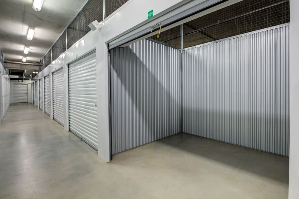Storage unit from right side at Farmers Market Self Storage in Los Angeles, CA