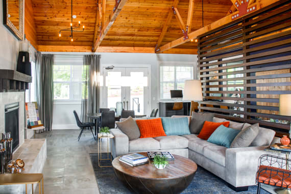 Sofi at Cedar Mill offers a luxury living room in Portland, OR