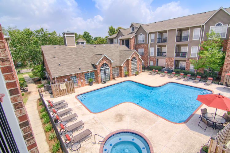 Resort-style pool at The Lexington Apartment Homes in Biloxi, Mississippi