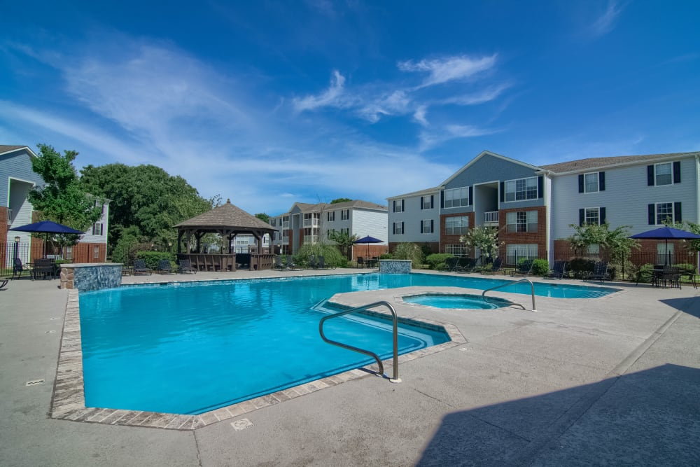 Luxury swimming pool at apartments in Biloxi, Mississippi