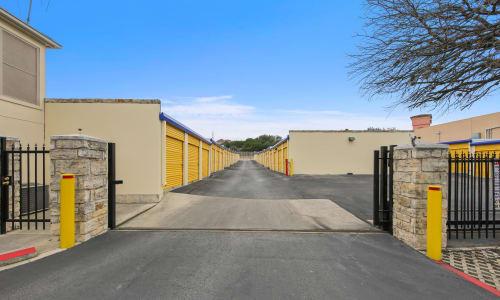 Huebner Mini-Stor Access Gate at storage units in San Antonio, Texas