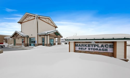 Storage Front sign at Market Place Self Storage in Park City, Utah