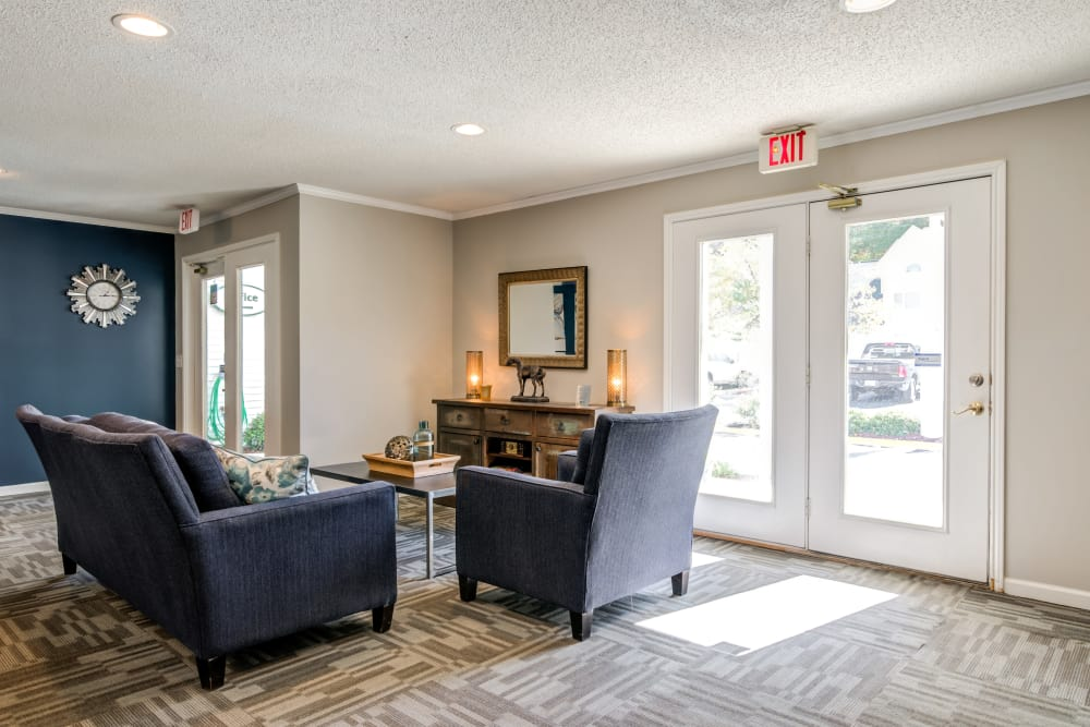 Enjoy apartments with a natrually well-lit living room at Keystone Farms