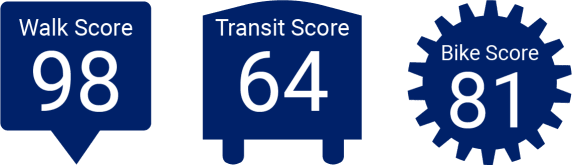 Solaire 7077 Woodmont has great walk score, transit score, and bike score in Bethesda, Maryland