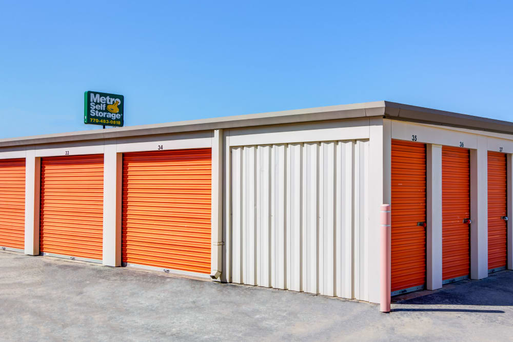 Outdoor units at Metro Self Storage in Conyers, Georgia