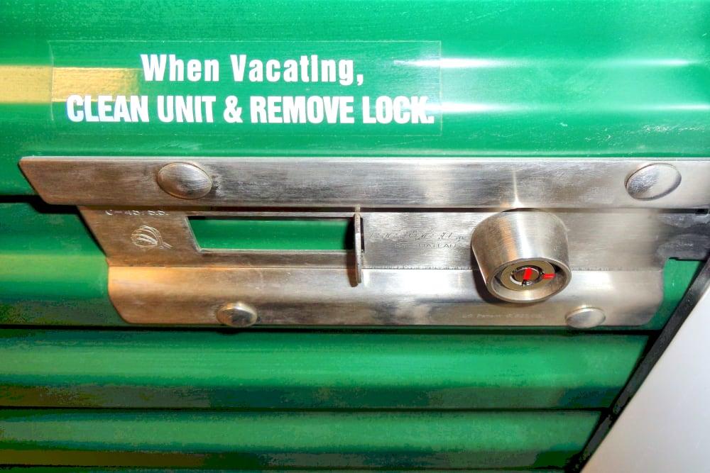 Lock on a storage unit at Capital Self Storage in Harrisburg, PA