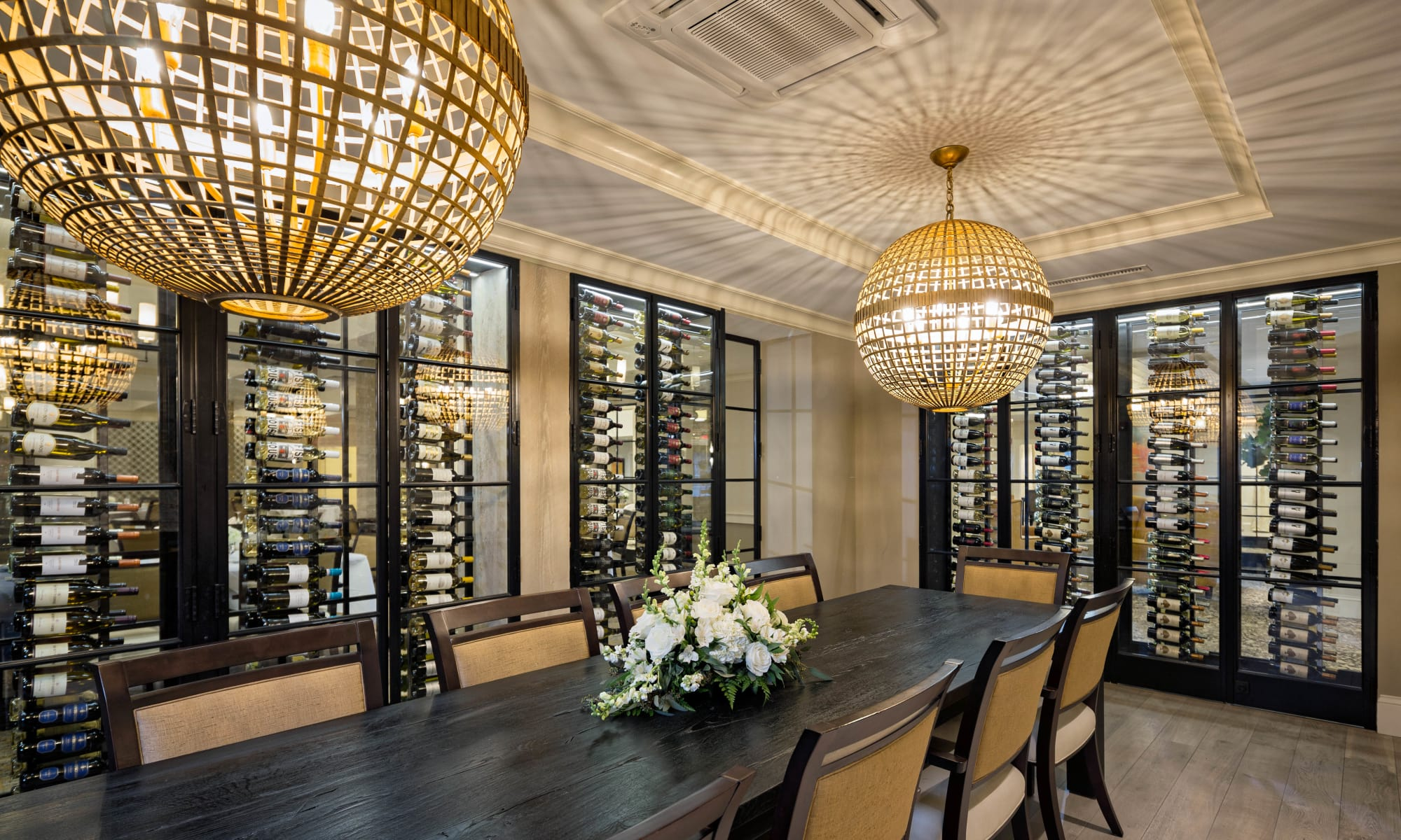 Our beautiful clubhouse in Weston, Massachusetts showcase a luxurious dining room