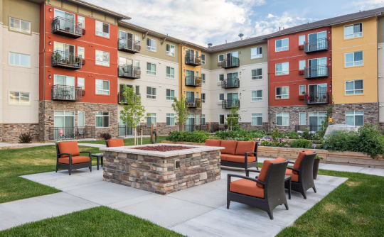 Affinity at Colorado Springs fire-pit seating