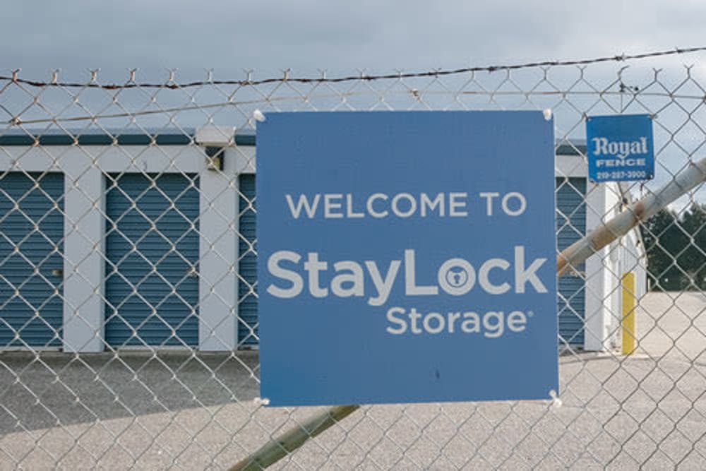 Entrance to our storage units at StayLock Storage in La Porte, Indiana