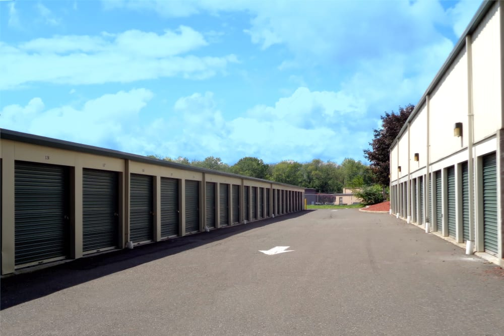 Drive-up units at Prime Storage in Danbury, Connecticut