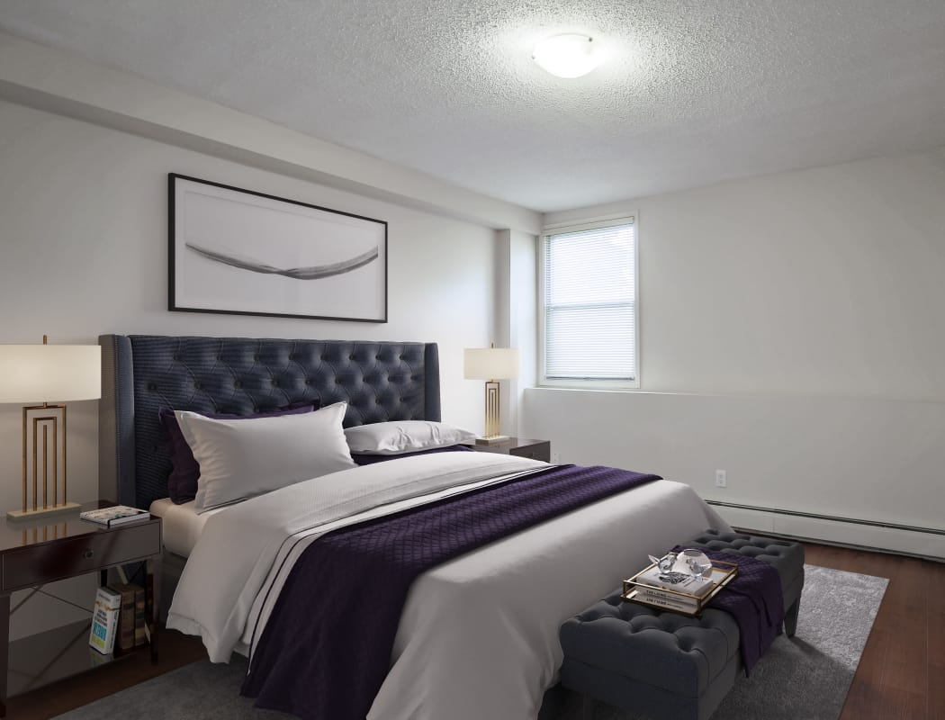 Spacious bedroom at Lakeview Mews in Calgary, AB
