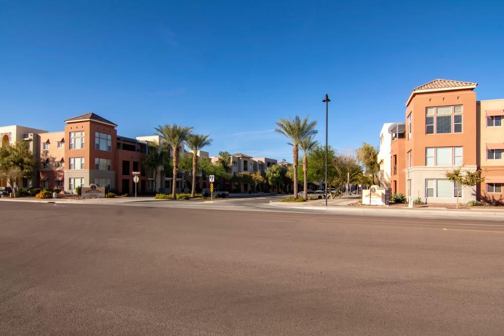 Entryway at apartments in Surprise, Arizona