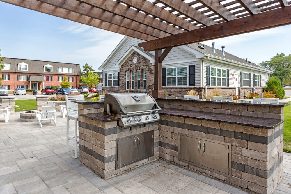 BBQ area at Cypress Place in Elk Grove Village, Illinois