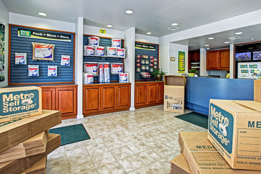 Leasing office reception at Metro Self Storage in Southampton, New York