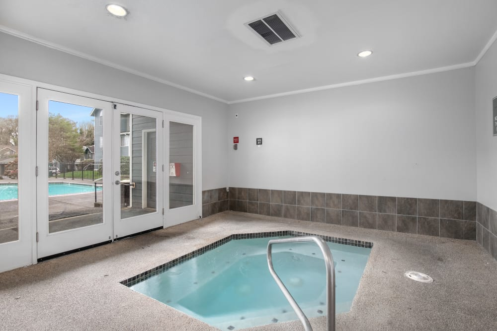 Beautiful resort-style indoor hot tub at Walnut Grove Landing Apartments in Vancouver, Washington