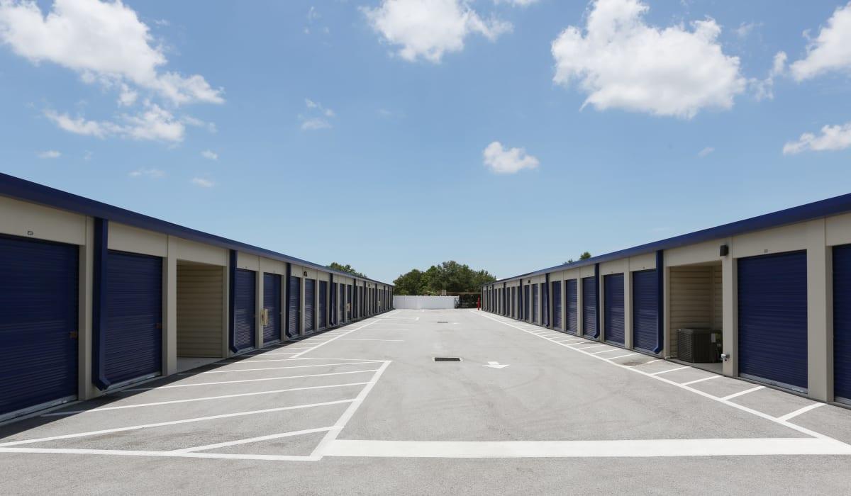 Roll up door at Midgard Self Storage in Bradenton, FL