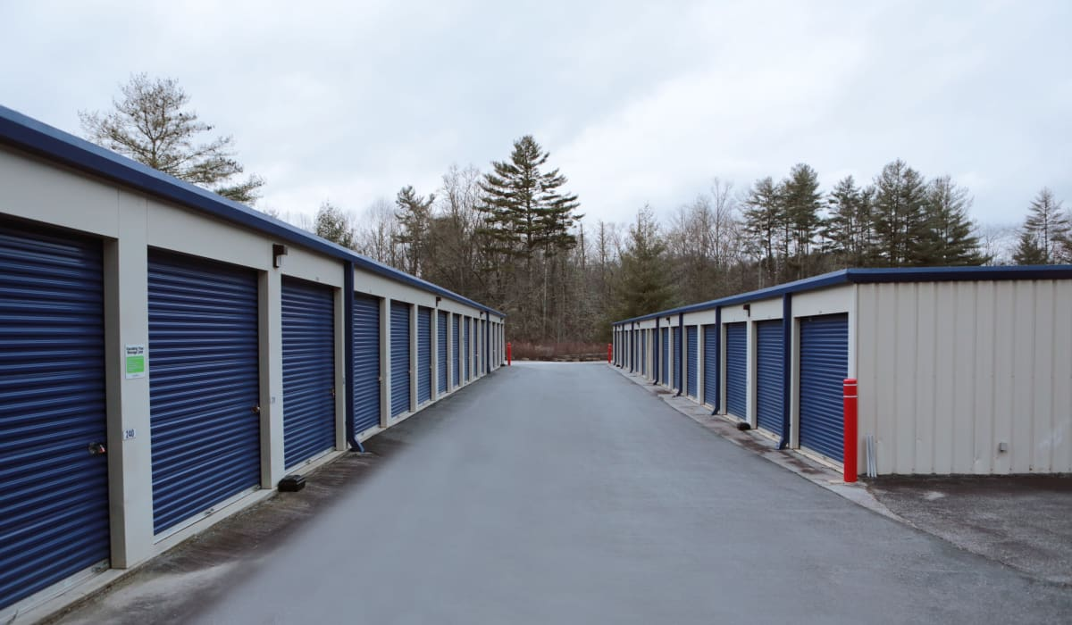 Exterior units at Midgard Self Storage in Cashiers, North Carolina