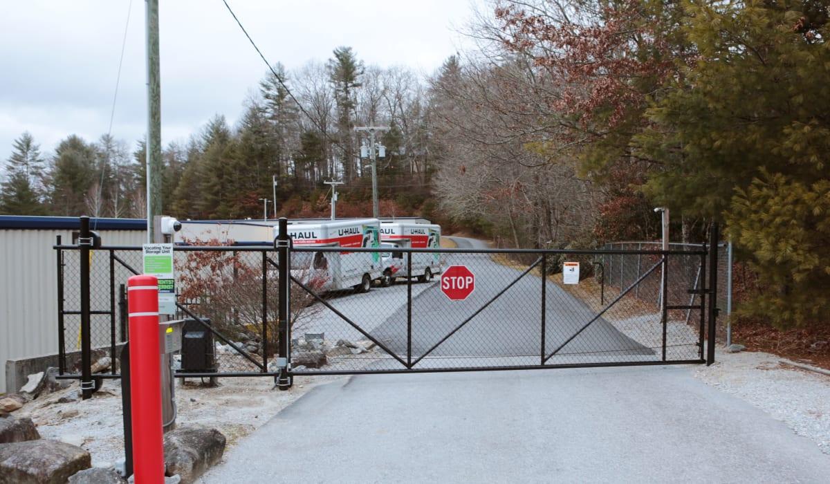 Security gate at Midgard Self Storage in Cashiers, North Carolina