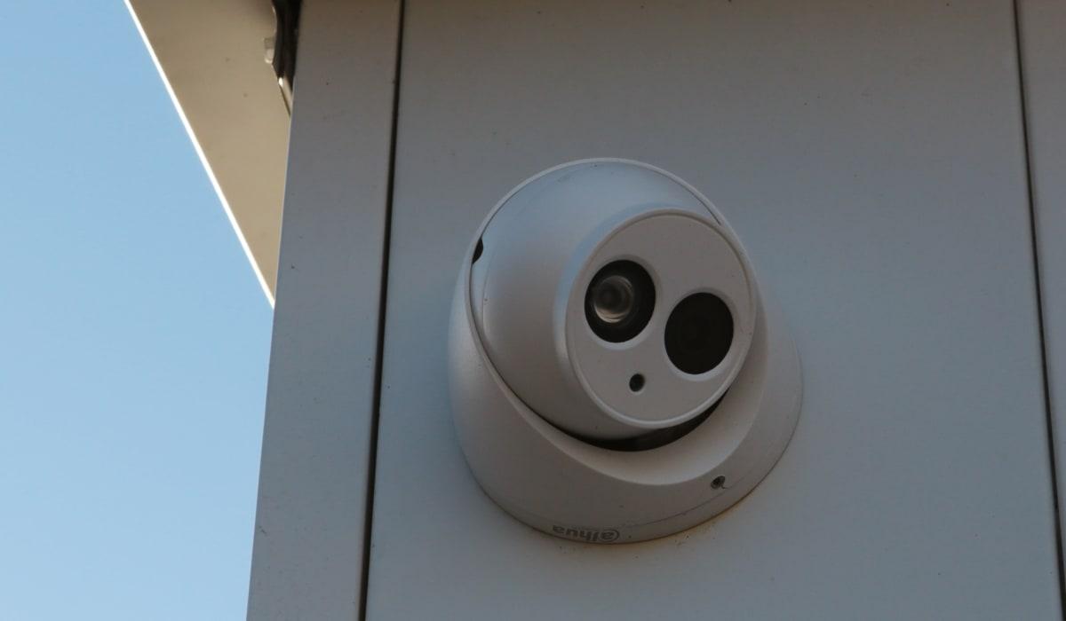 Right facing camera at Midgard Self Storage in Wilmington, North Carolina