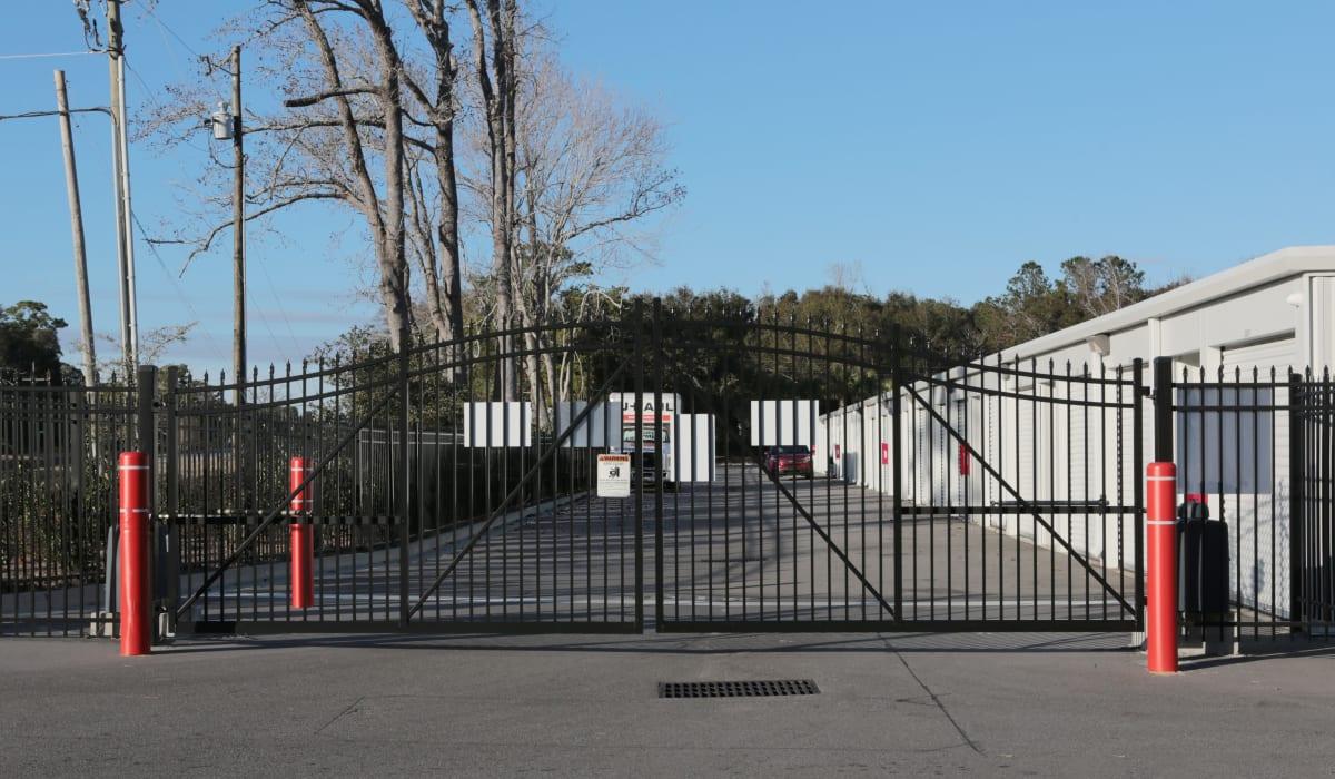 Gate access at Midgard Self Storage in Wilmington, North Carolina
