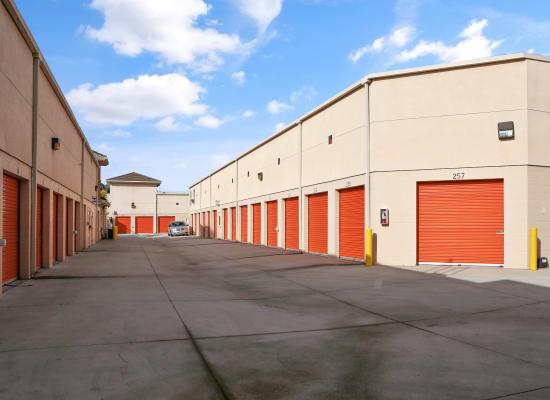 Ground-level storage units in Cypress, California