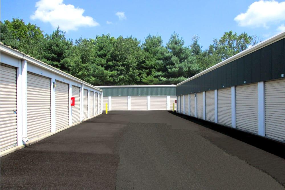 Wide drive ways at Prime Storage in Montpelier, Virginia