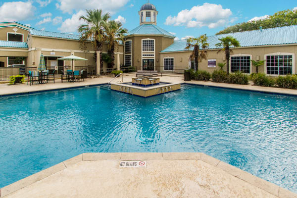 Beautiful swimming pool at The Pointe at Ramsgate in San Antonio, Texas