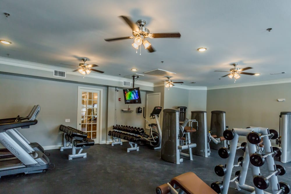 Fitness center at Arlo Luxury Apartment Homes in Little Rock, Arkansas