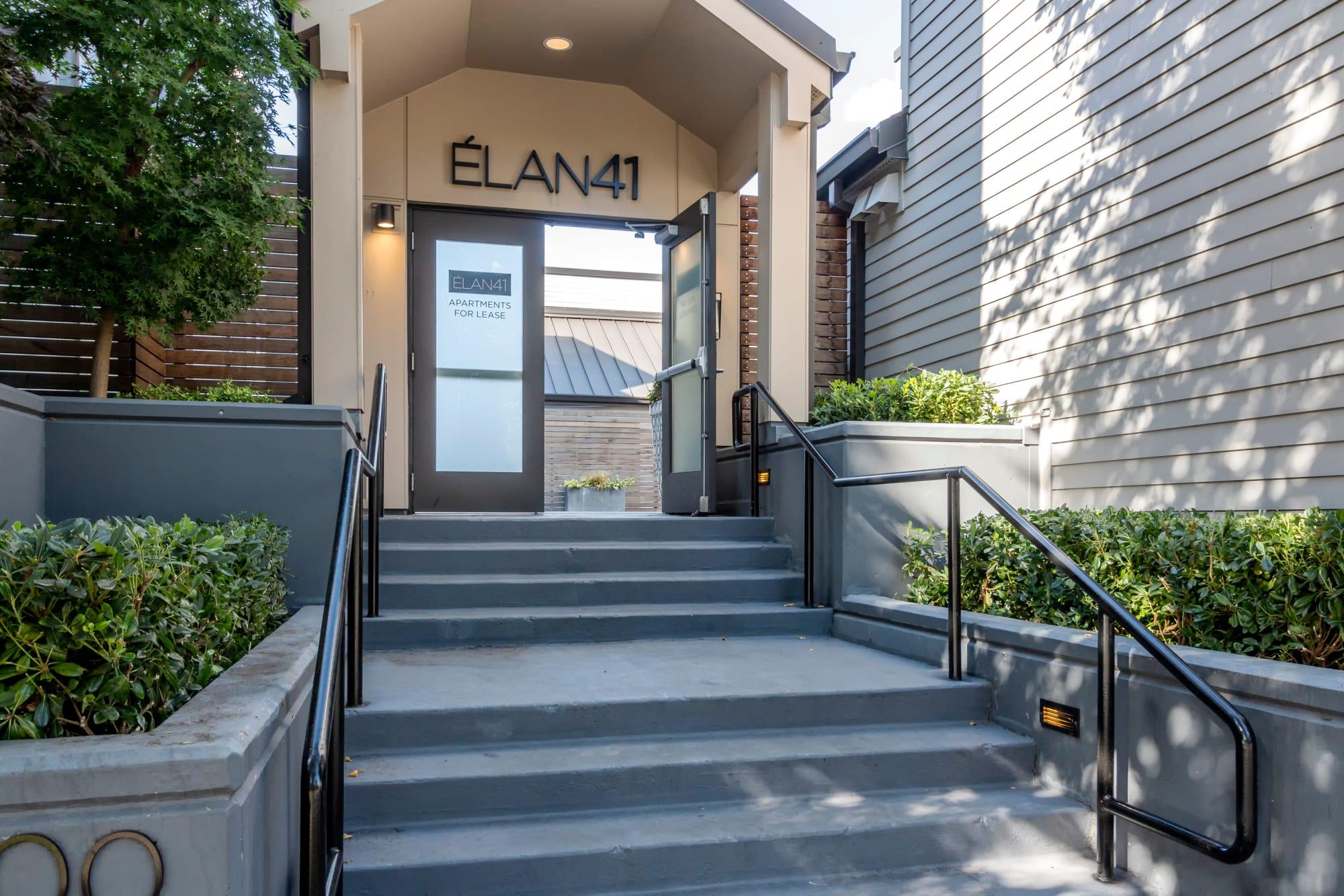 Entrance to property at Elan 41 Apartments in Seattle, WA