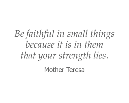 Mother Teresa Quote for Garden Place Waterloo in Waterloo, Illinois