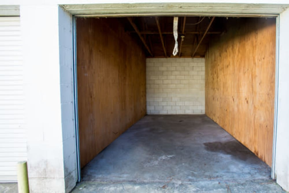Roll-up doors on self storage units at StayLock Storage in Hartsville, South Carolina