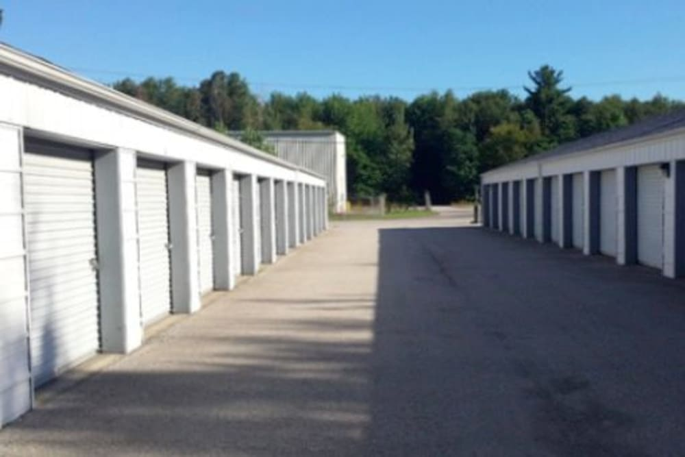Roll-up doors on self storage units at StayLock Storage in Michigan City, Indiana
