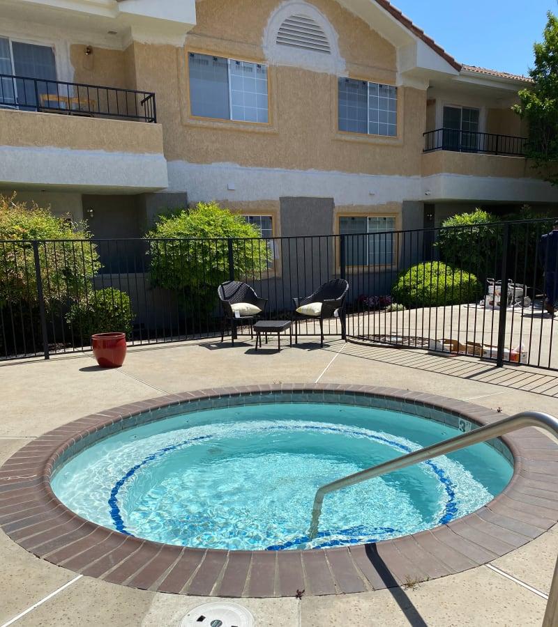 The pool at Pacifica Senior Living Fresno in Fresno, California