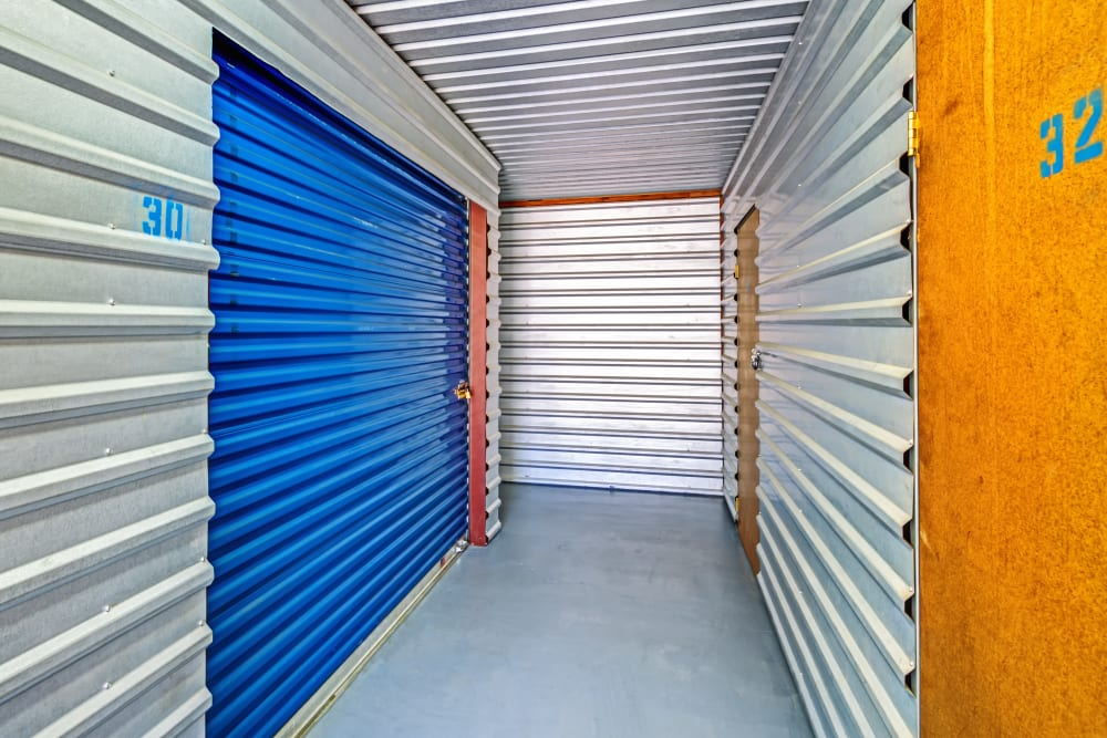 Indoor units hallway at Metro Self Storage in Euless, Texas
