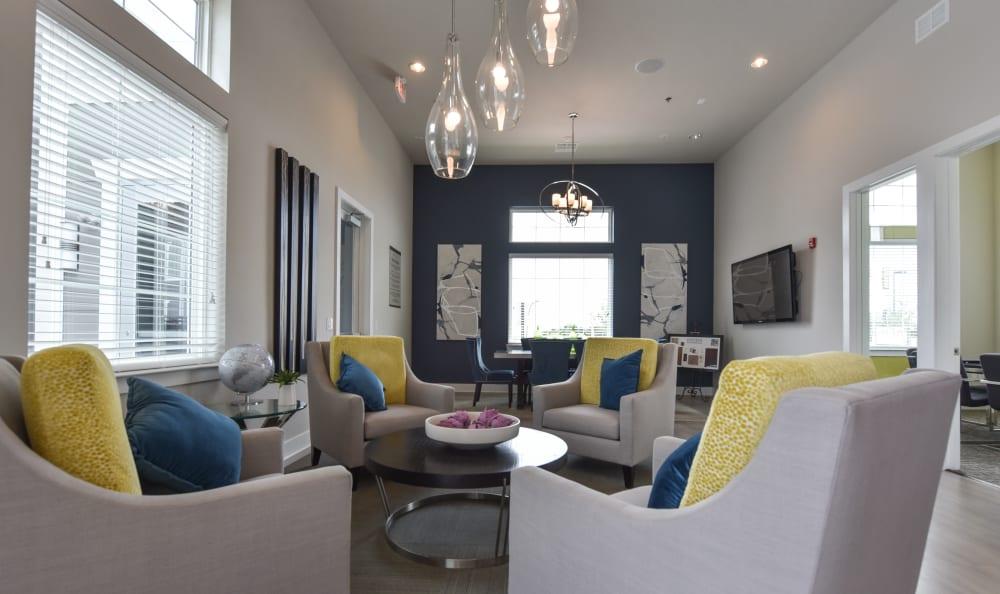 Living room at Springs at Orchard Road