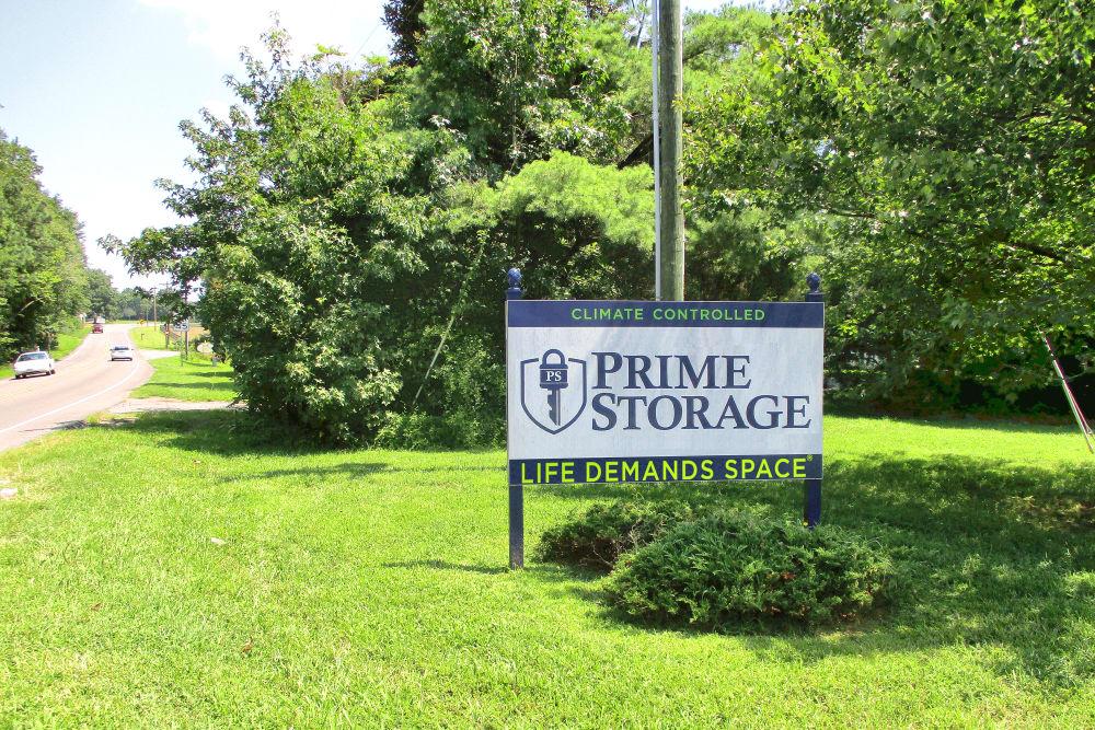 Sign in front of Prime Storage in Montpelier, VA