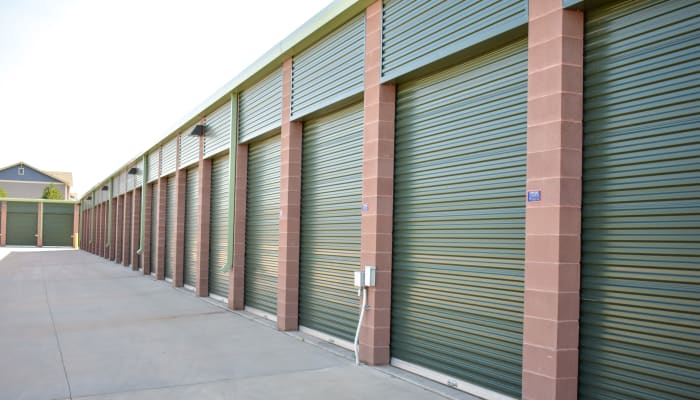 The exterior of units at STOR-N-LOCK Self Storage in Fort Collins, Colorado