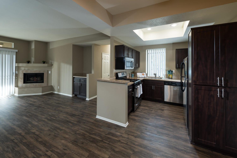 Open floor plans at Seapointe Villas in Costa Mesa, California