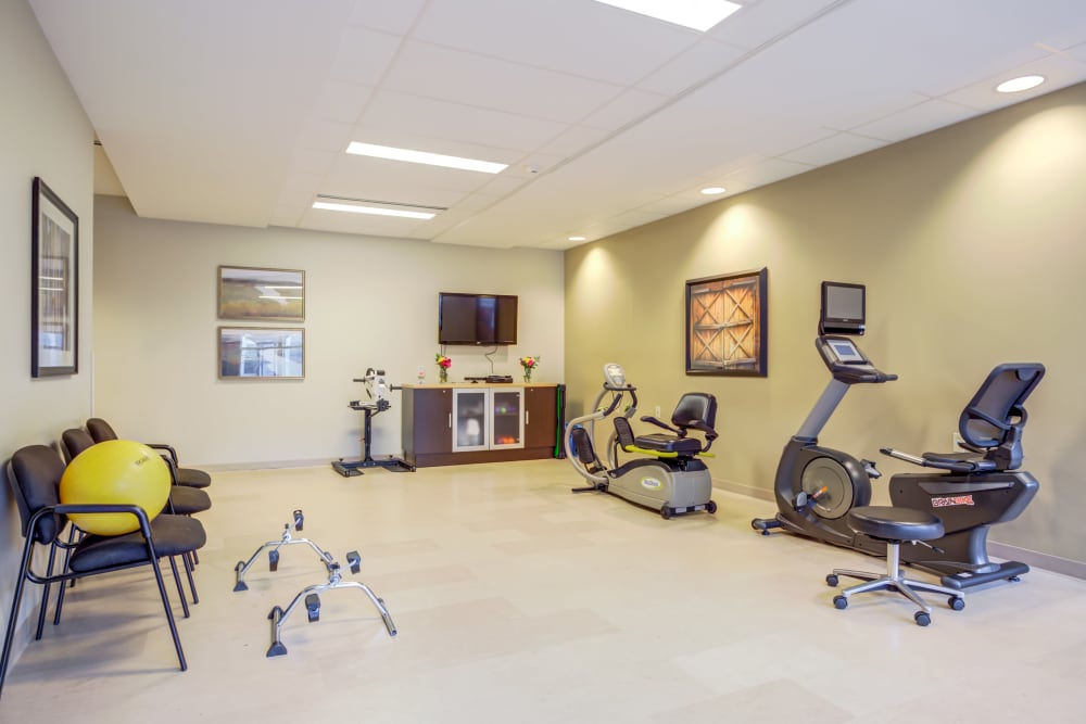 A fitness center at Clearvista Lake Health Campus in Indianapolis, Indiana
