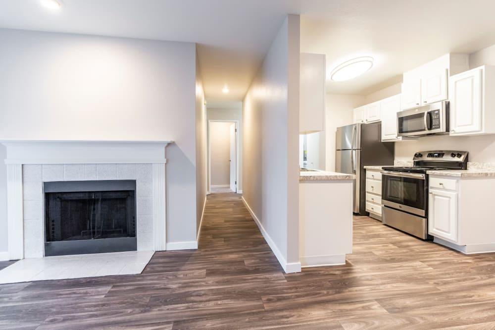 View of floor plan at Walden Pond Apartments in Everett, Washington