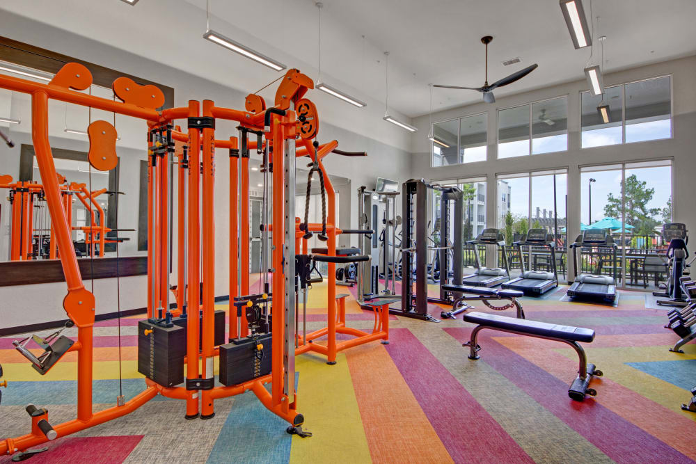 State of the art fitness center at Linden on the GreeneWay in Orlando, Florida