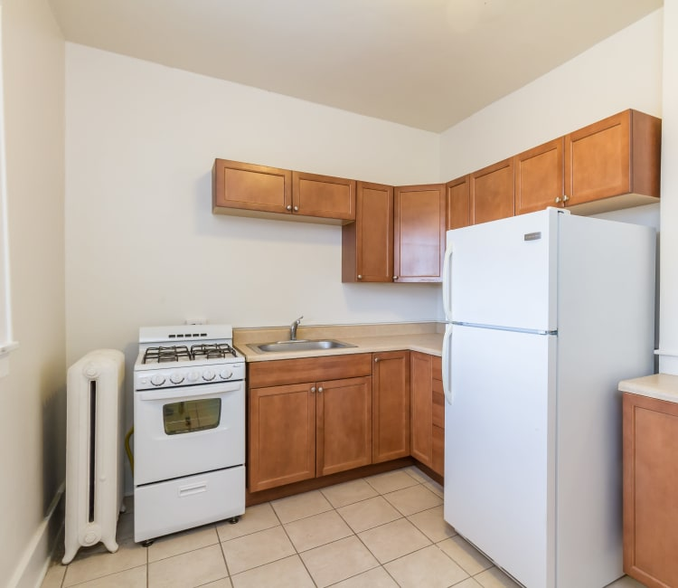 Kitchen at Mayflower Apartments in Rochester, New York