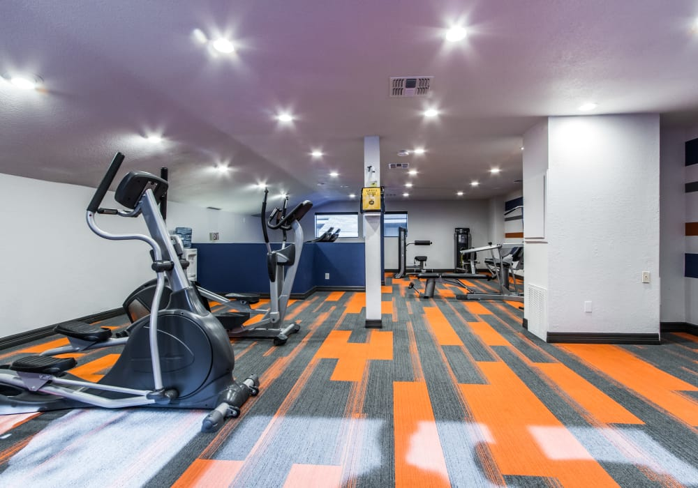 Workout room at Sausalito Apartments in College Station, Texas