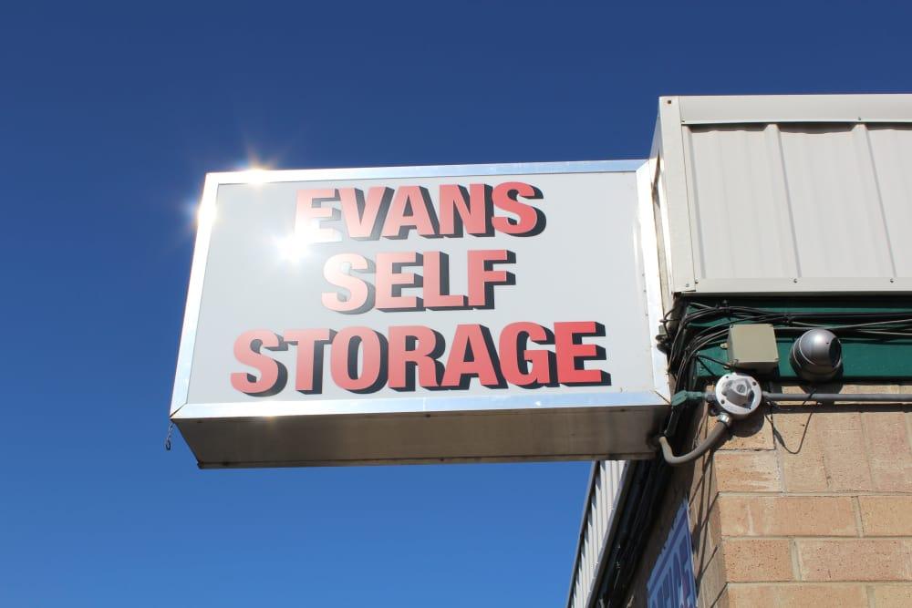 Evans Self Storage sign