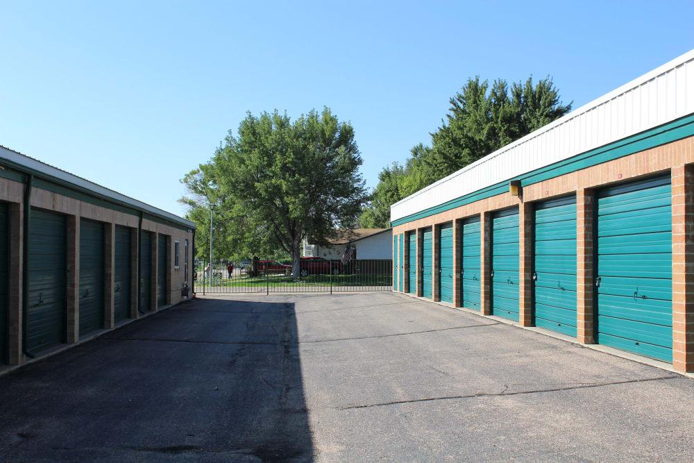 Storage units at Evans Self Storage