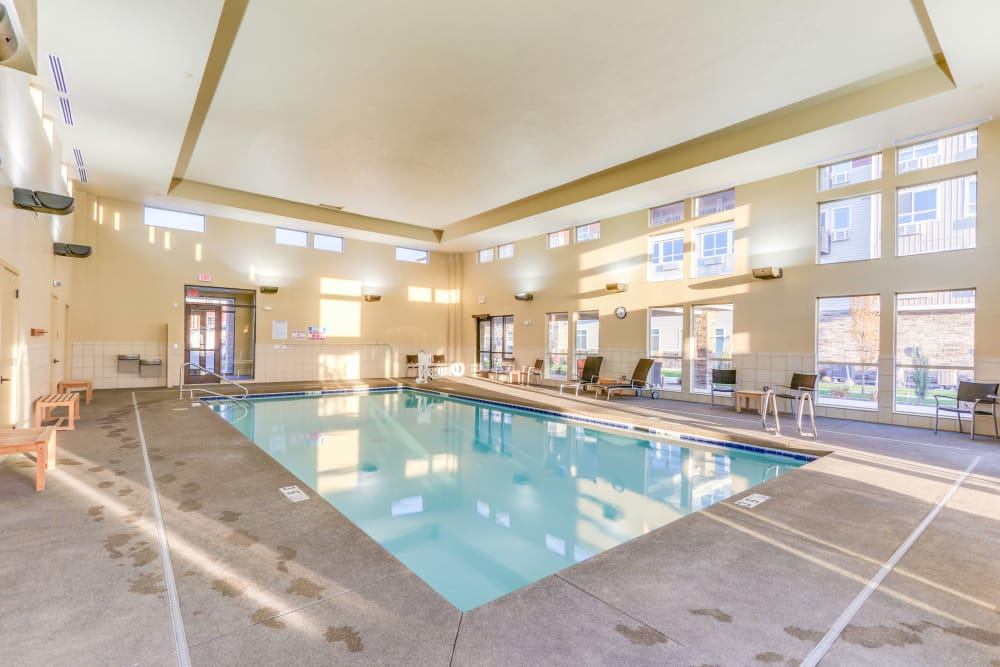 Enjoy our indoor pool at Affinity at Southridge in Kennewick, WA