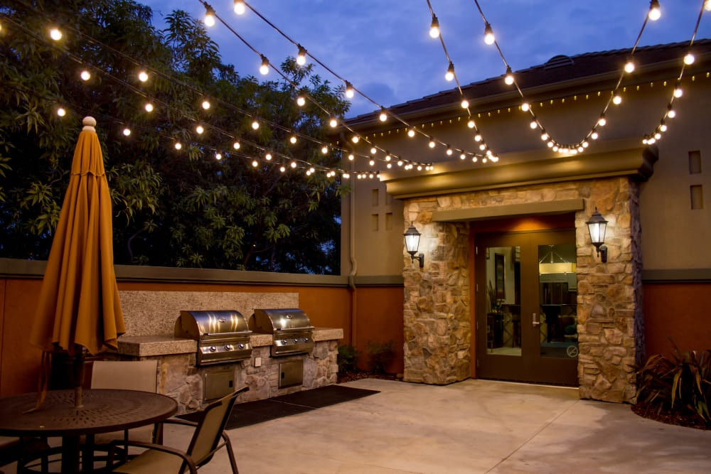 Patio with BBQ area at Links at Westridge in Valencia, CA