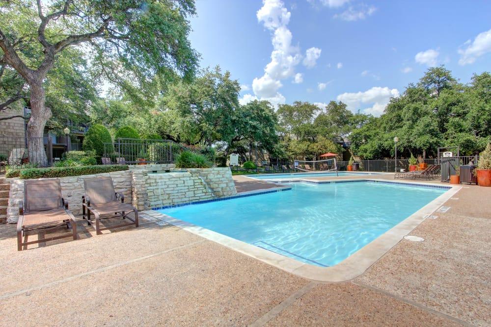 Luxury swimming pool at Bridge at Northwest Hills in Austin, Texas