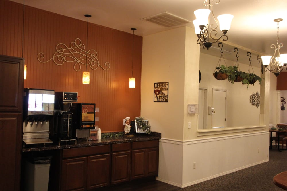 Small bistro for residents at The Willows Retirement & Assisted Living in Blackfoot, Idaho